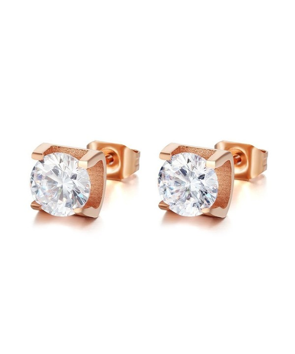 Plated Stainless Earring Zirconia Diamond