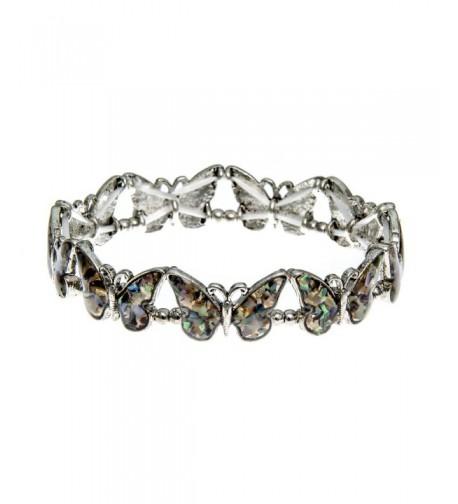 PammyJ Silvertone Multiple Butterfly Bracelet