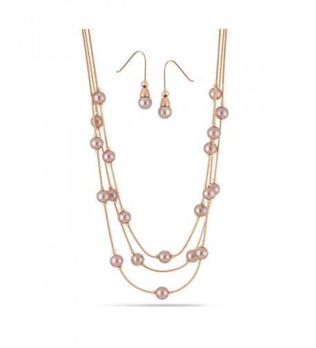 CHAMPAGNE LAYERED NECKLACES HNN E084RG