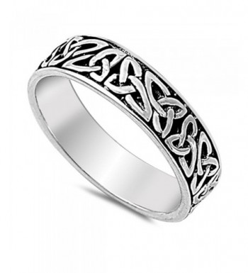 Oxidized Infinity Wedding Sterling Silver