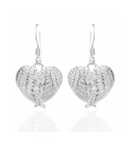 Sterling Silver Feathers Dangle Earrings