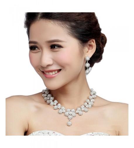 Miraculous Garden Rhinestone Necklace Earrings