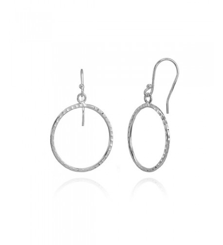 Sterling Silver Hammered Fashion Earrings