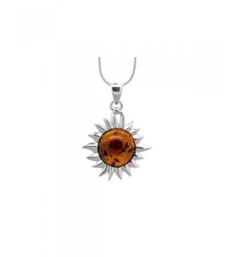 Sterling Flaming Pendant Necklace included