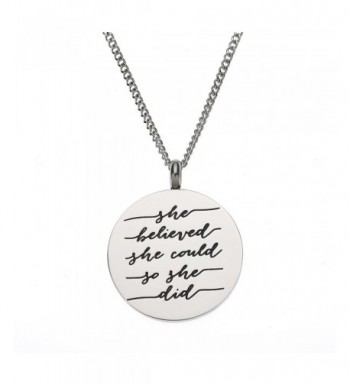 Believed Could Inspirational Pendant Necklace