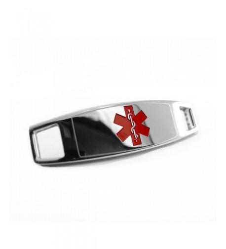 MyIDDr Steel Medical Attached Bracelet