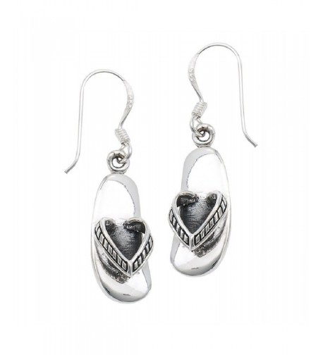 Sterling Silver Sandal Dangle Earrings