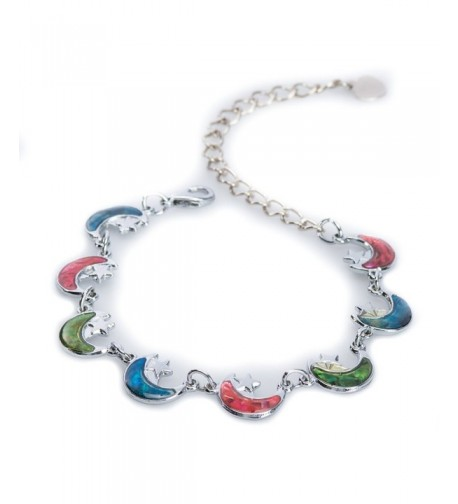Silver tone Crescent Anklet Jewely Nexus