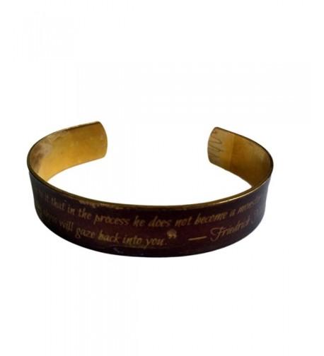 Whoever fights monsters Bracelet Handmade