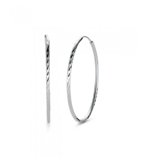 T400 Jewelers Sterling Diamond Cut Earrings