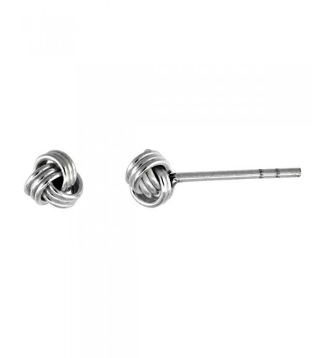 Tiny Sterling Silver Knot Earrings