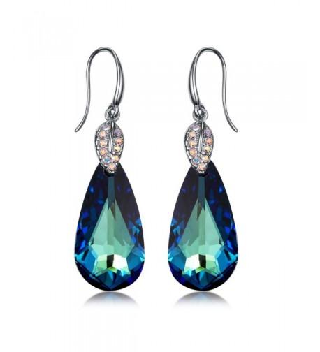 Blue Crystal Water Drop Earring