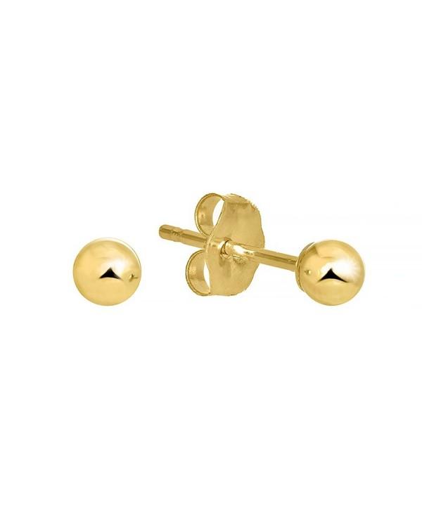 JewelStop Yellow Earrings Friction Backs