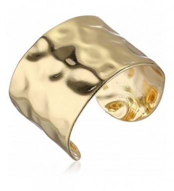 Panacea Gold Hammered Cuff Bracelet
