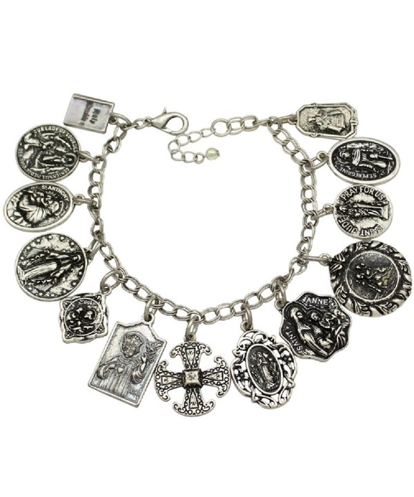 Catholic Religious Prayer Charm Bracelet