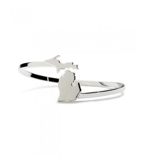 Michigan Bracelet Bangle Jewelry Silver