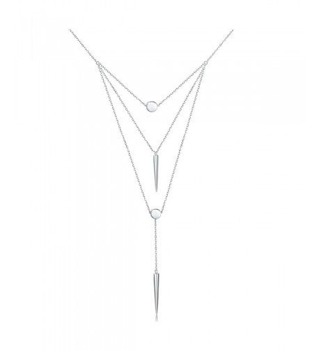 Sterling Multilayer layered Pendant Necklace