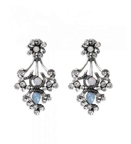 She Lian Rhinestone Earrings Mismatch