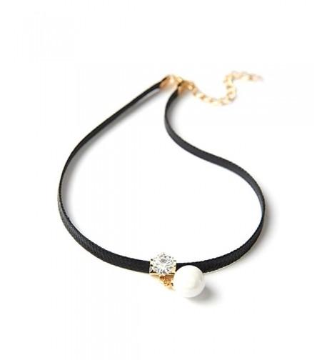 RoseSummer Leather Necklace Vintage Chocker