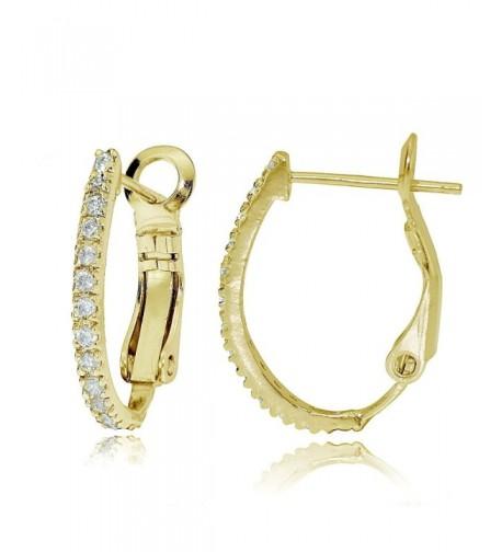 Yellow Sterling Silver Zirconia Earrings