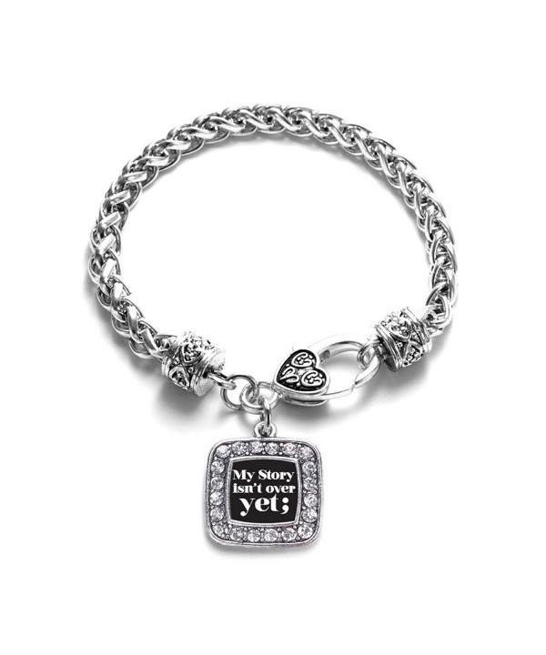 Semicolon Movement Classic Silver Bracelet