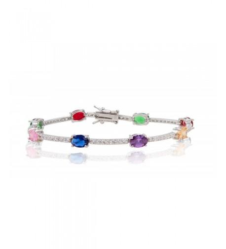 SilverLuxe Womens Sterling Zirconia Bracelet