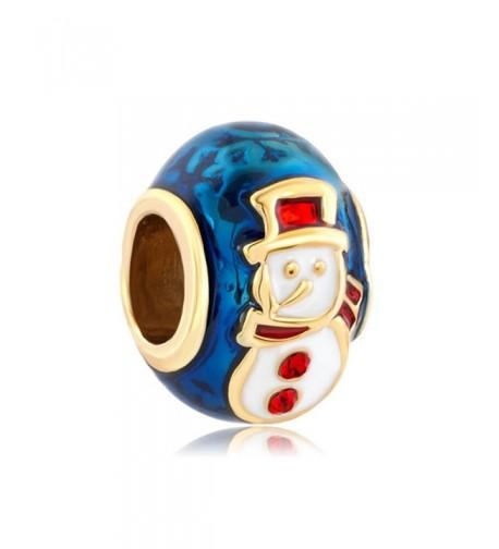 LovelyCharms Snowman Bead Fits Bracelets