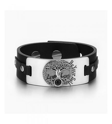 Celtic Simulated Adjustable Leather Bracelet