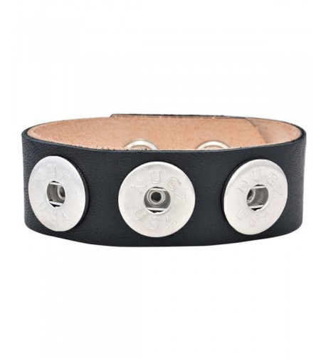 Ebony Leather Bracelet Interchangeable Collection