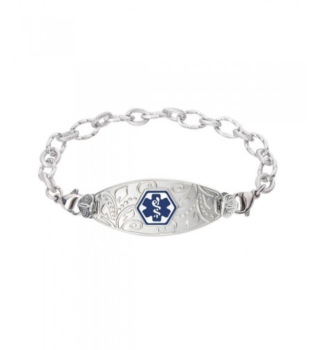 Divoti Engraved Filigree Bracelet Stainless