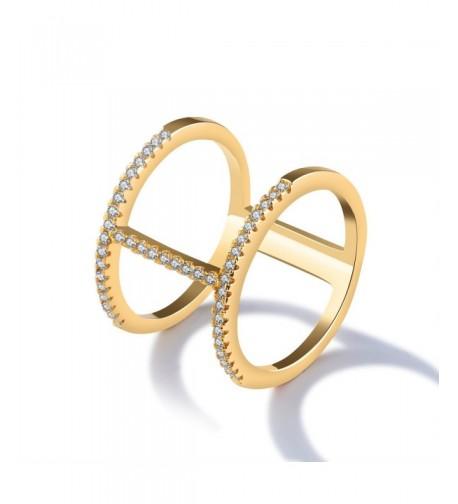 LOHOME Fashion Double Rhinestone Finger