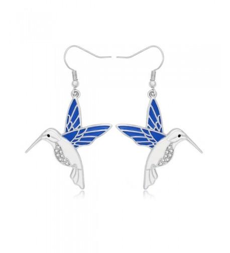 NOUMANDA Rhinestone Hummingbird Earrings Jewelry