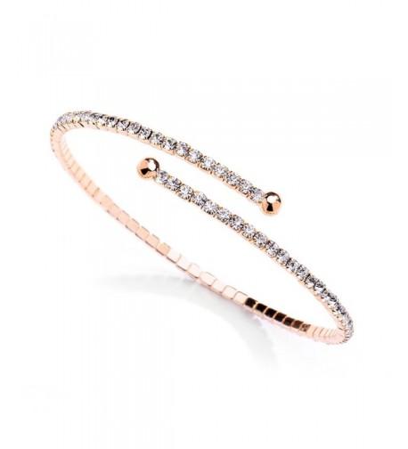 Mariell Crystal Rhinestone Bracelet Bridesmaids
