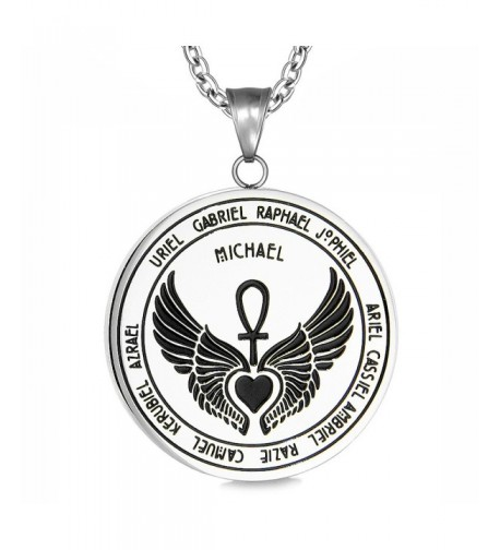 Archangels Guardian Medallion Pendant Necklace