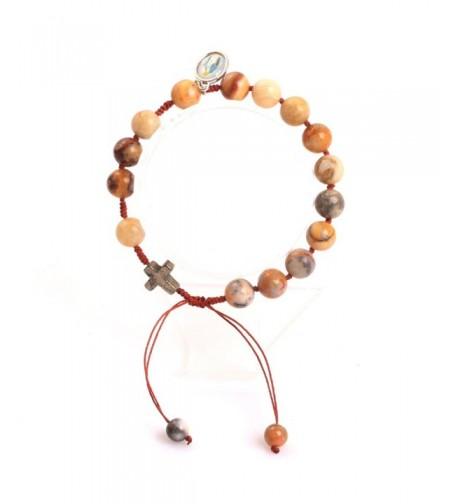 Gem inside Handmade Christian Bracelets Adjustable