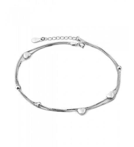 CoolJewelry Sterling Silver Double Bracelet