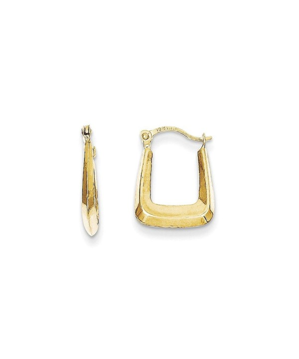 68c95faf74f4b 10K Yellow Gold Hollow Squared Hollow Hoop Earrings (Approximate  Measurements 15mm x 12mm) C111DQUCSLR