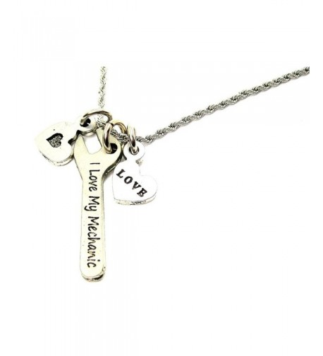 Chubby Charms Mechanic Stainless Necklace