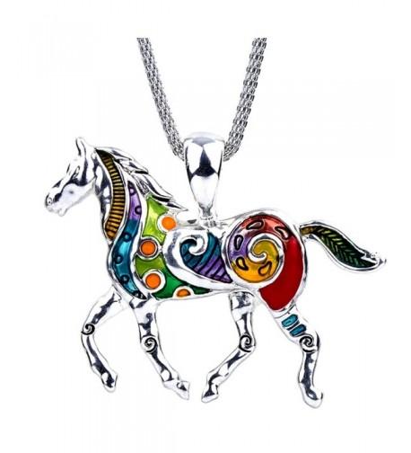 DianaL Boutique Colorful Pendant Necklace