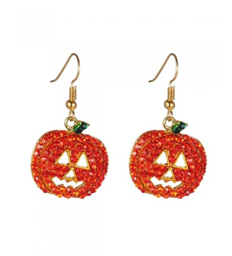 Halloween Pumpkin Earrings Red Hypoallergenic