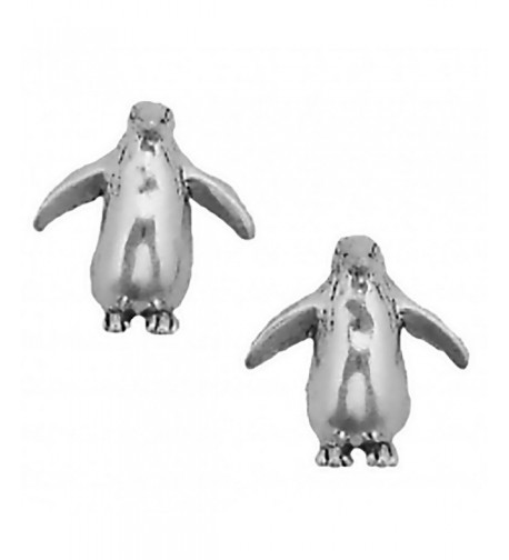 Corinna Maria Sterling Penguin Earrings Stainless