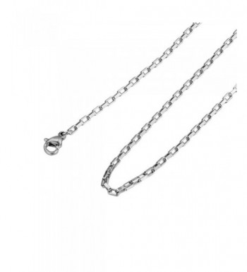 HooAMI Stainless Steel Necklace Sliver