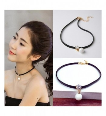 NEW Leather Choker Charm Necklace Vintage Hippy Choker Retro Black Leather Cord