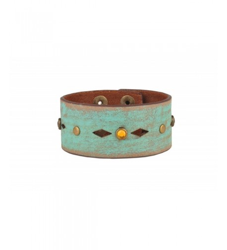 Hand Painted Leather Bracelet Cut Outs