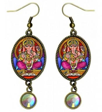 Ganesh Intellect Iridescent Rhinestone Earrings