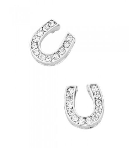 Liavys Horseshoe Fashionable Earrings Sparkling