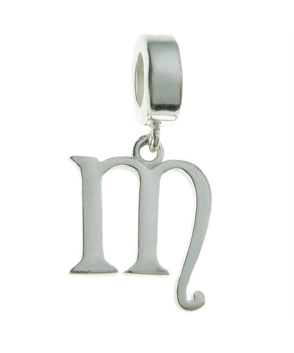 Sterling Silver Letter European Dangle