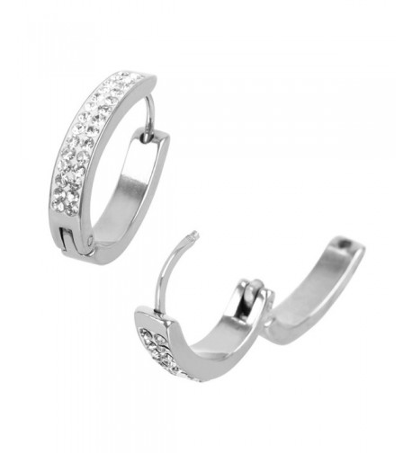 INOX Stainless Shaped Huggie Earrings