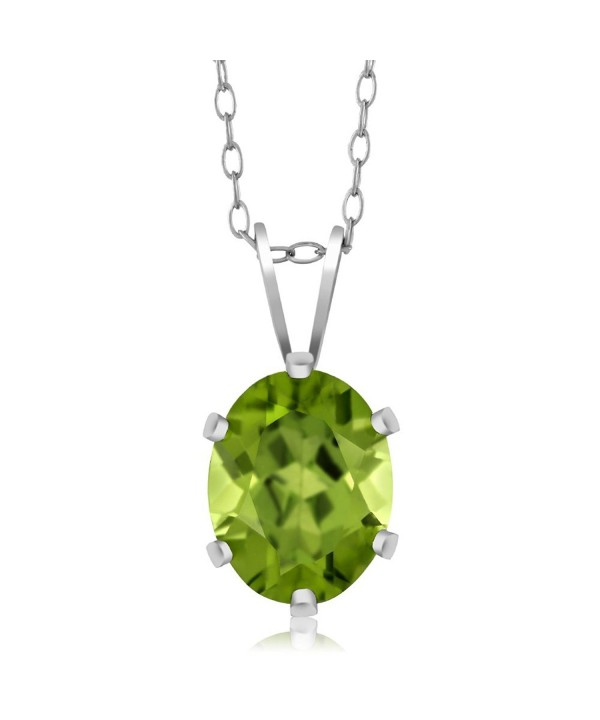 Sterling Silver Peridot Pendant Necklace