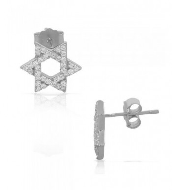 Sterling Silver Jewish Womens Earrings